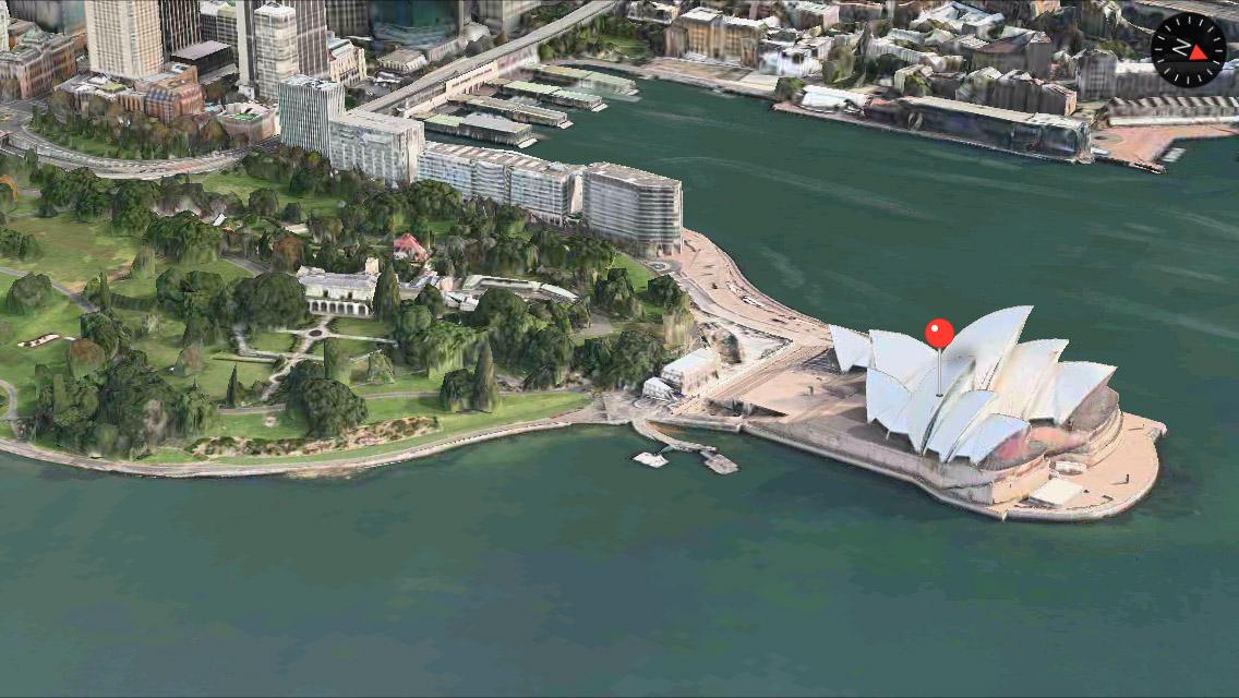 Sydney 3D Maps app iPhone