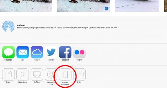 Use image as wallpaper iPad iOS 7