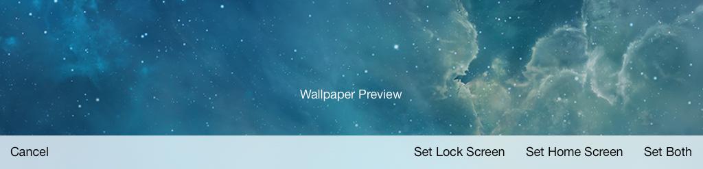 Wallpaper options iPad iOS 7