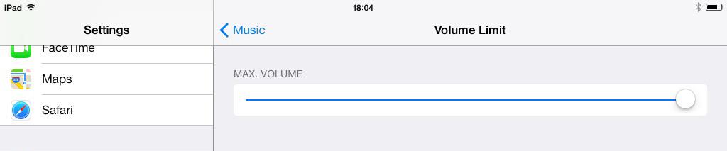 iOS 7 iPad Volume Limit