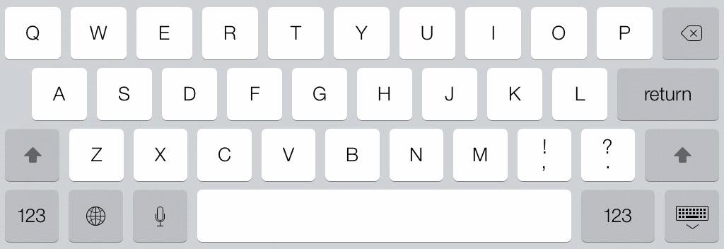 iPad mini keyboard iOS 7