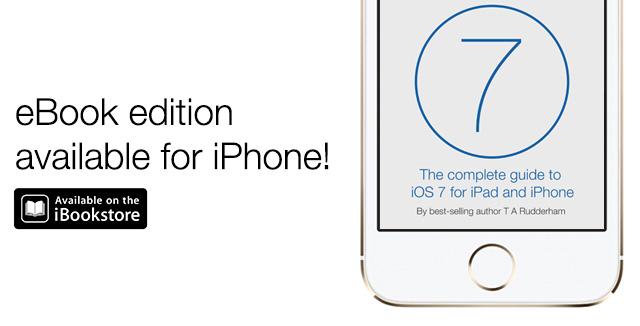 iPhone iOS 7 book ad
