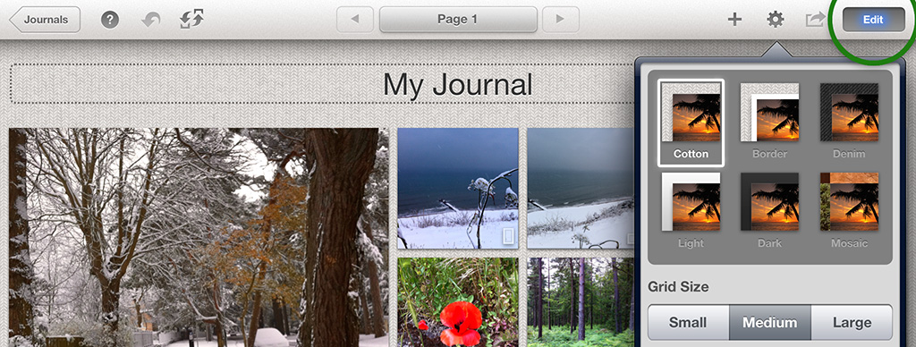 iPhoto Journal Themes