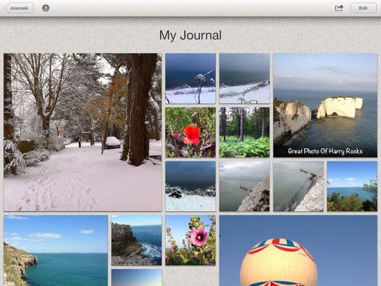 iPhoto Journal on iPad