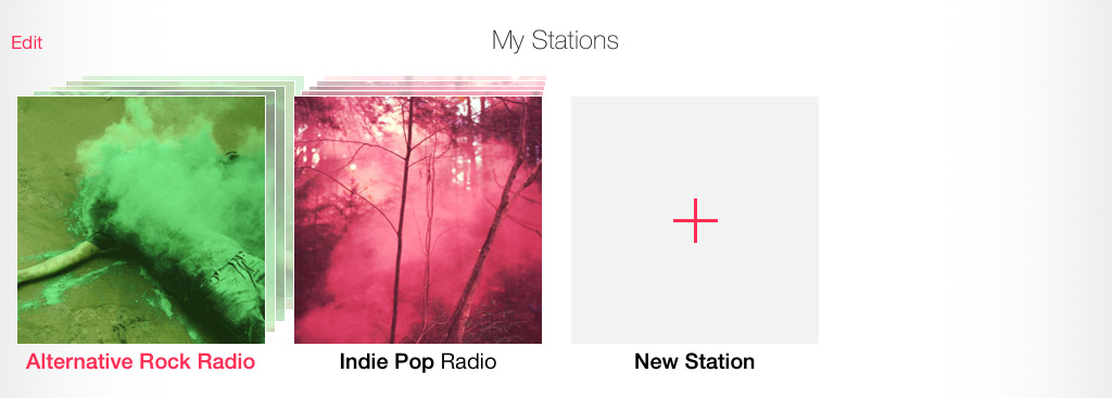 Added Station iTunes Radio