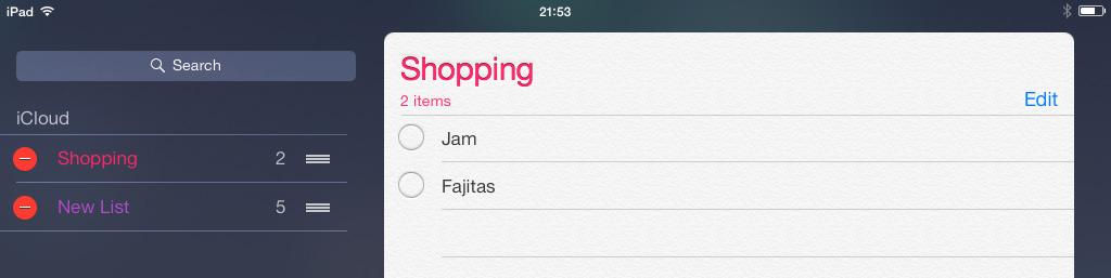 Delete Reminders iOS 7