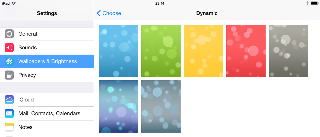 Dynamic wallpapers iOS 7