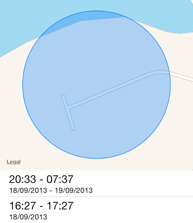Frequent Location times iOS 7