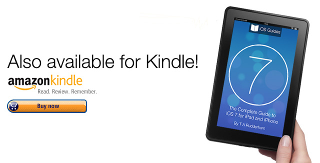Kindle iOS 7 book ad