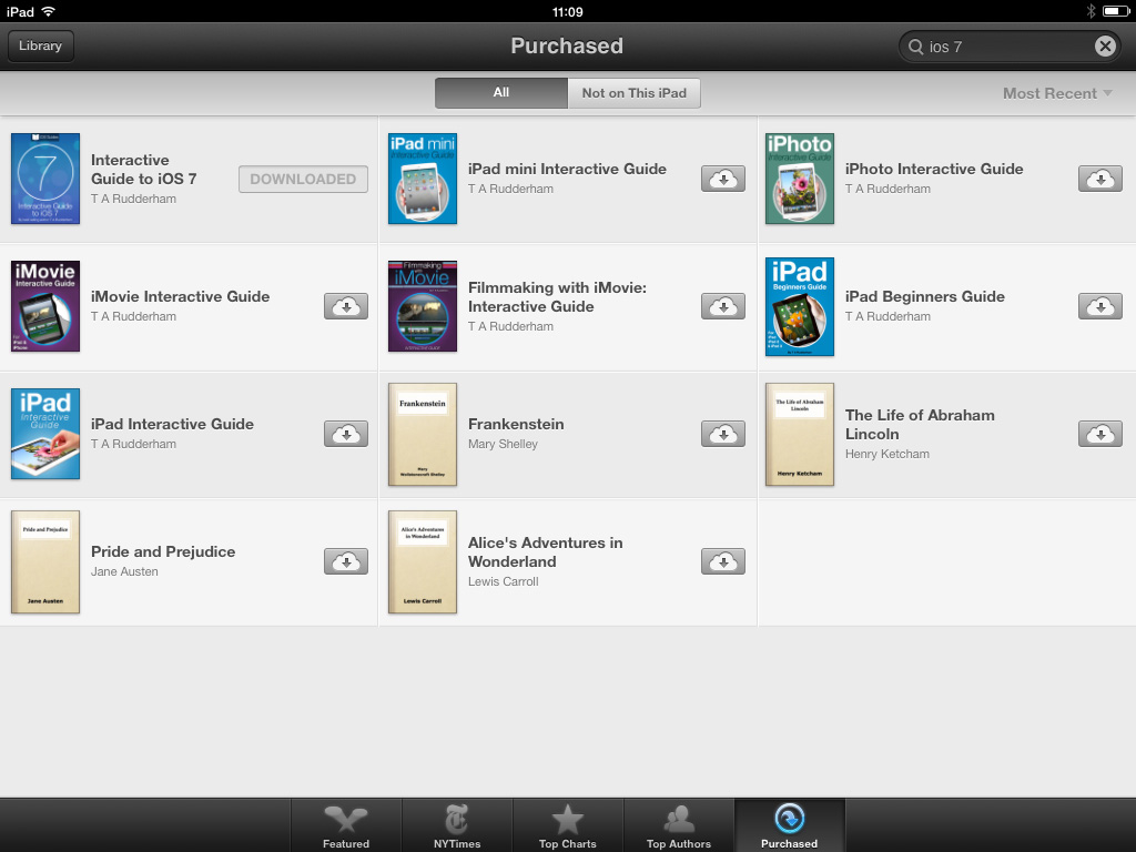 Re download books iPad
