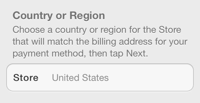 Select US iOS 7