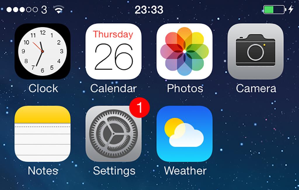 Settings Update app iOS 7