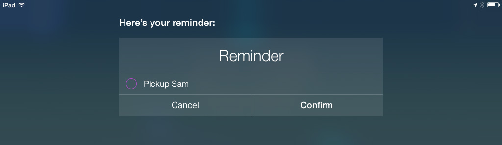 Siri Reminders iOS 7