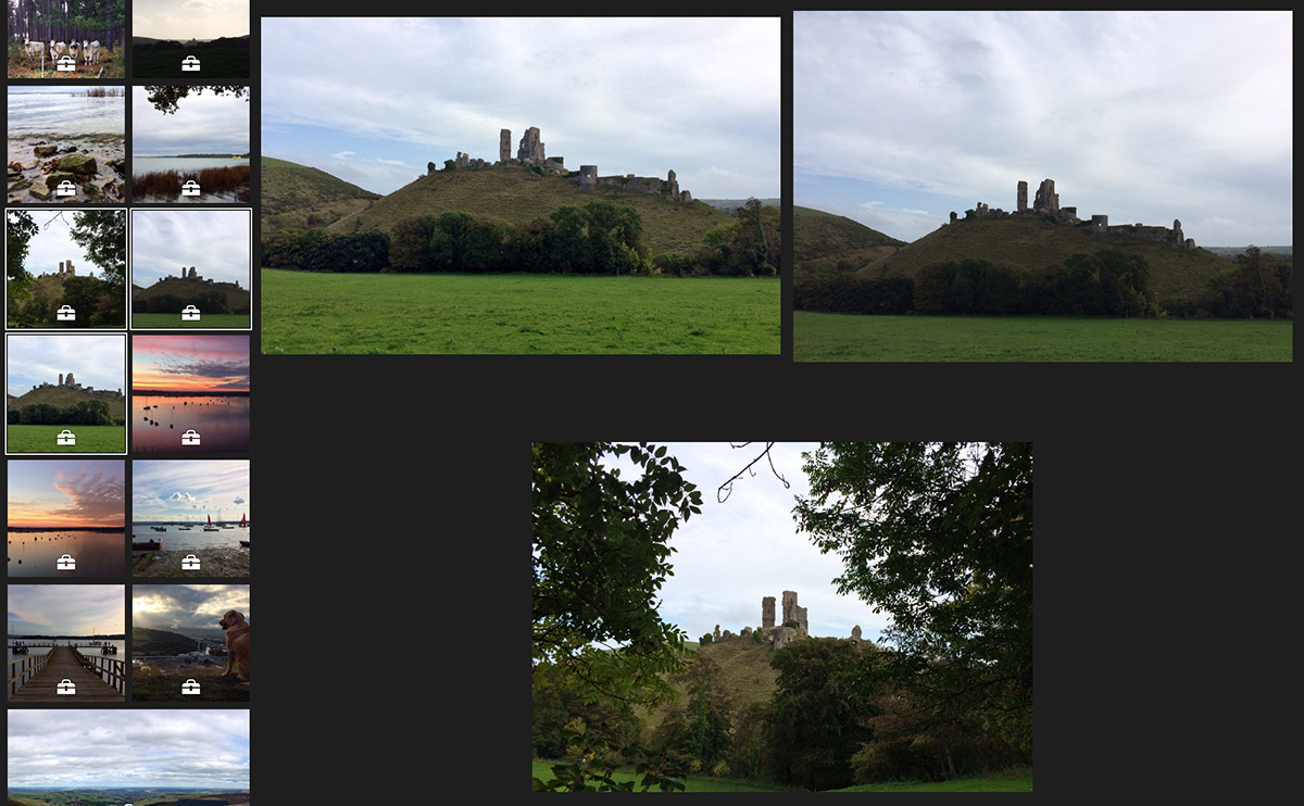 iPhoto Multiple Images Selected