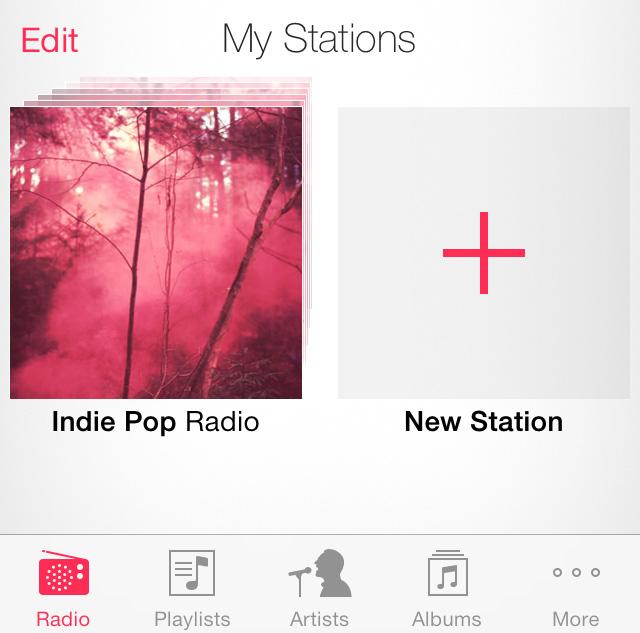 iTunes Radio button iOS 7
