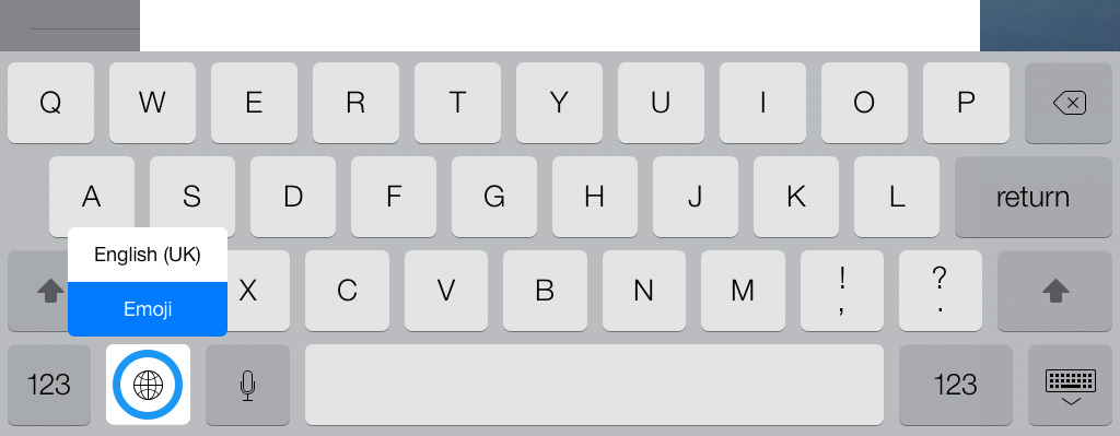 Emoji keyboard iPad iOS 7