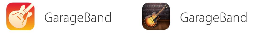 GarageBand app icon comparison