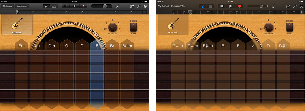 GarageBand iOS 7 Comparison 2 thumb