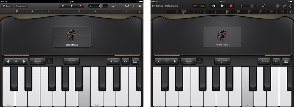 GarageBand iOS 7 Comparison 3 thumb