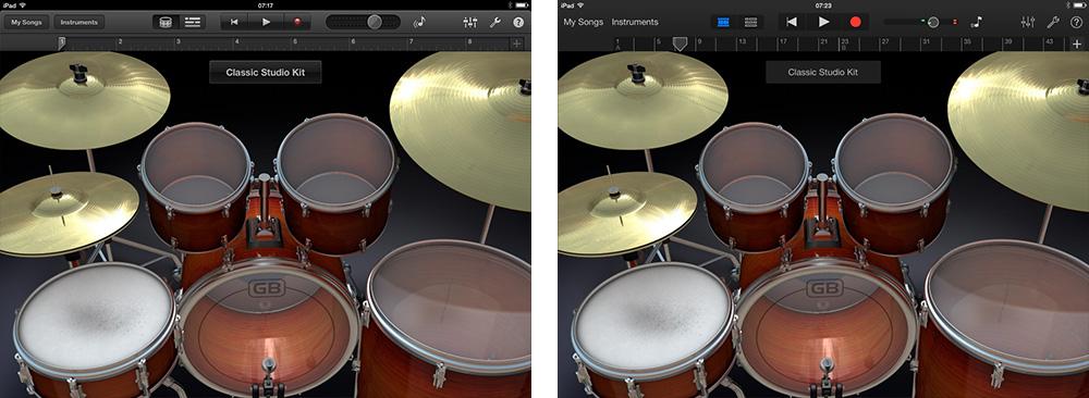 GarageBand iOS 7 Comparison 4 thumb