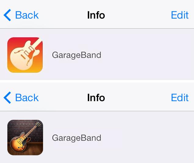 Garageband Icon Comparison