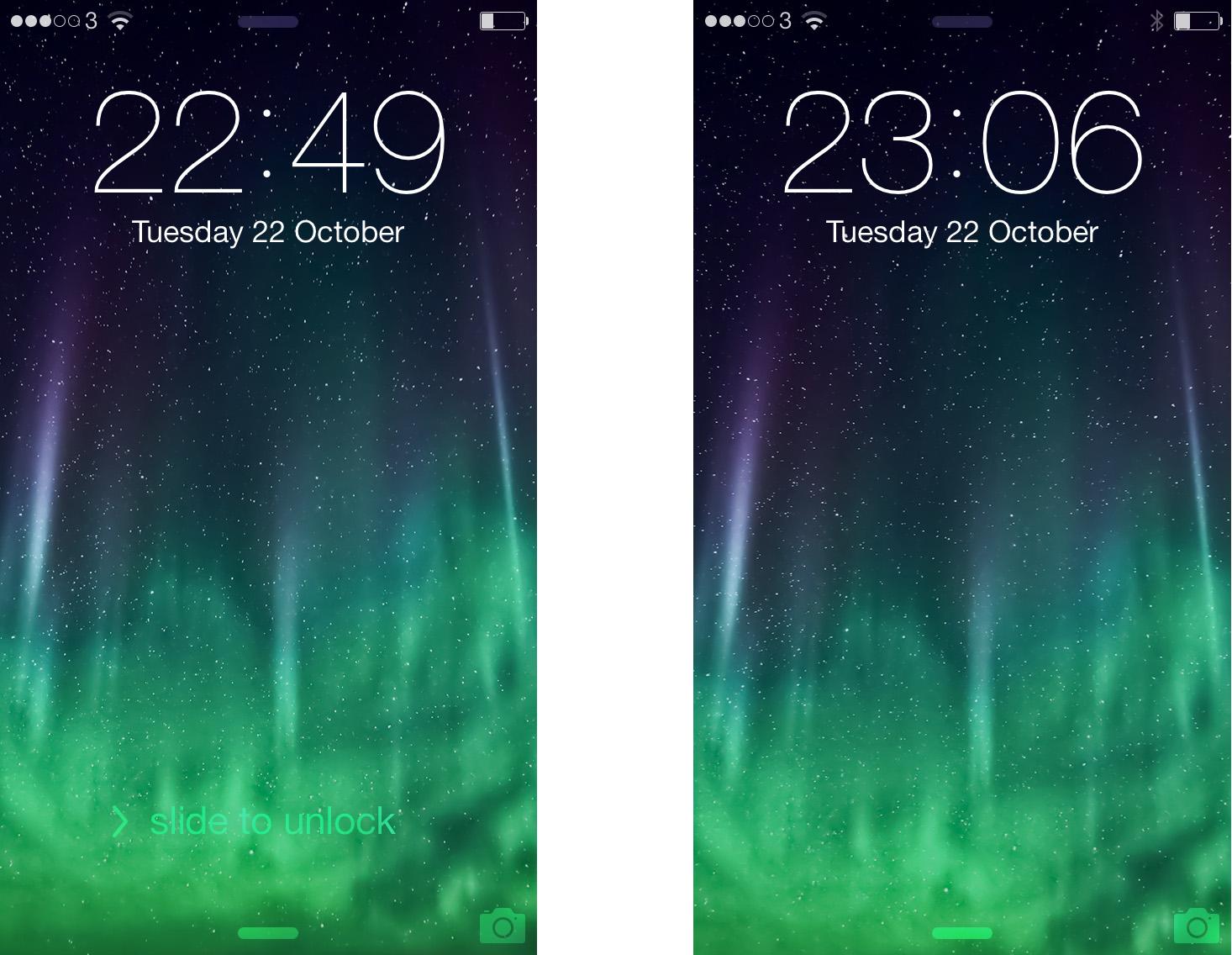 Slide to unlock updated iPhone 5s iOS 7.0.3 copy