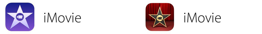 iMovie app icon comparison