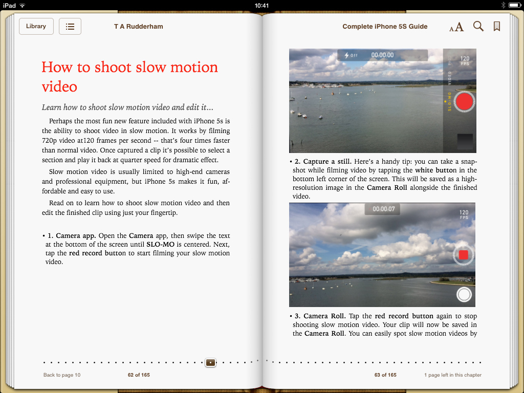 iPhone 5s Guide Book Screen 2