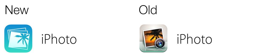 iPhoto app icon comparison