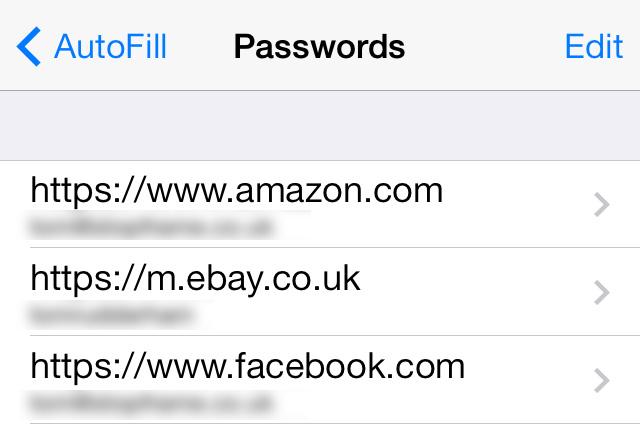 Saved Password panel