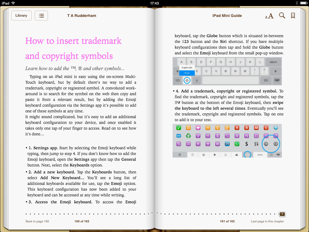 iPad mini book screenshot 2