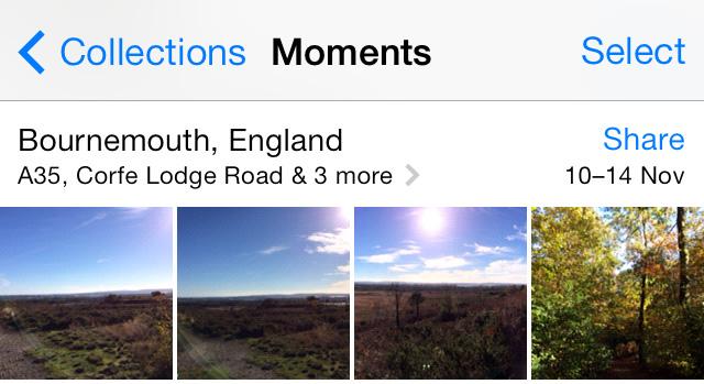 Location name Photos app