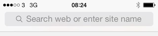 iOS 7 beta 3 Safari text