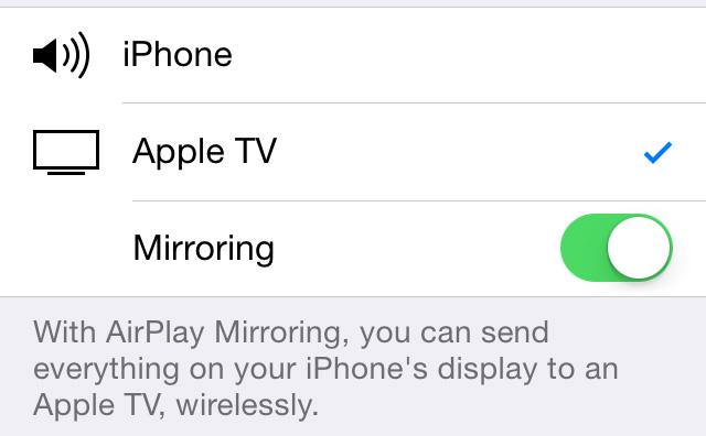 Mirror iPhone Display