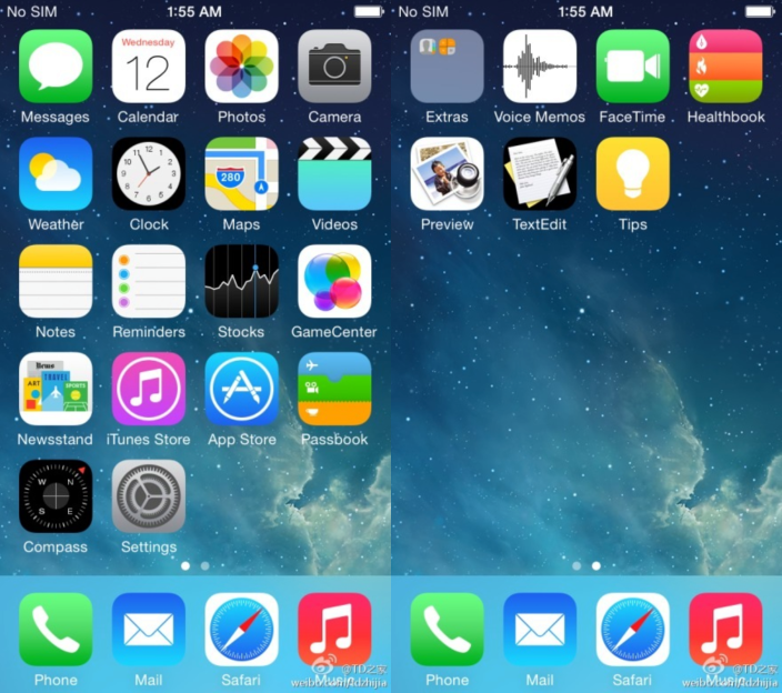 First iOS 8 screen